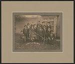 [Civil War veteran Myrick Coil of Co. I, 43rd Indiana Infantry Regiment, and unidentified veterans of Grand Army of the Republic Post #352, Potomac, Illinois]