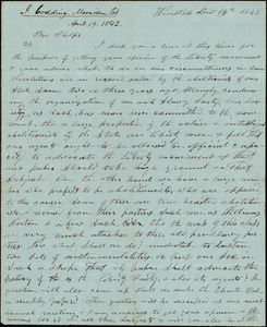 Letter from Ichabod Codding, Winsted, to Amos Augustus Phelps, April 19th 1842