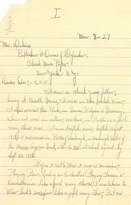 Letter from unidentified correspondent to W. E. B. Du Bois [fragment]