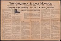 Reprint. Dick Gregory says 'honesty' key to U.S. race problem