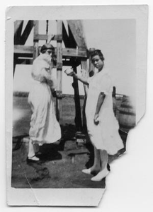 Two Women with Windmill