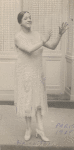 """Ada """"Bricktop"""" Smith, entertainer and nightclub owner, outside Café le Grand Duc, Paris"""