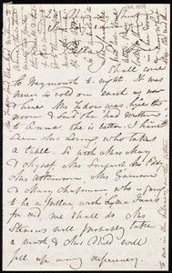 Letter from Maria Weston Chapman, 20 Chauncy Street, [Boston, Mass.], to Anne Warren Weston and Deborah Weston, Sunday evening, [1859?]