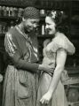 """Ethel Waters in """"Mamba's Daughters"""" with actress Fredi Washington"""