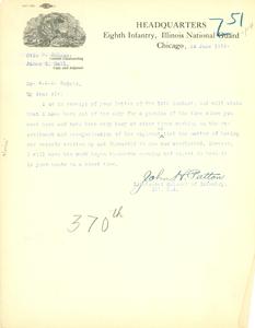 Letter from John H. Patton to W. E. B. Du Bois