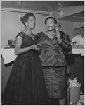[Ella Fitzgerald with Sarah Vaughan : photoprint, ca. 1950.]