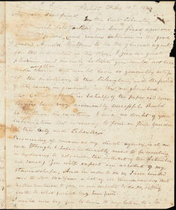 Thumbnail for Letter from Joseph Cassey, Philad[elphi]a, [Pennsylvania], to William Lloyd Garrison and Isaac Knapp, 1834 Feb[ruar]y 15th