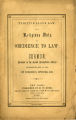 Fugitive slave law: the religious duty of obedience to law...