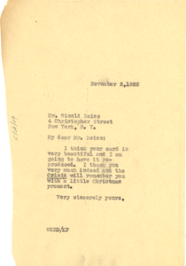 Letter from W. E. B. Du Bois to Winold Reiss