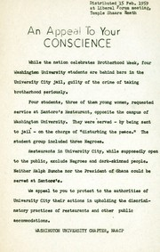 Flier: An Appeal to Your Conscience, February 15, 1959