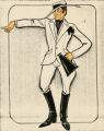 Costume design drawing, Principal boy singer (director), Las Vegas, June 5, 1980