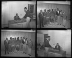 Set of negatives by Clinton Wright including Larry and Joe at Doolittle, and basketball team, 1965