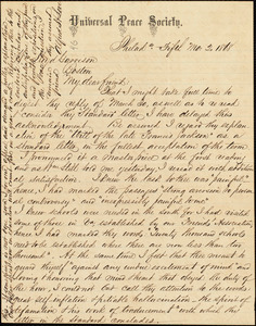 Letter from Alfred Harry Love, Philad[elphi]a, [Pa.], to William Lloyd Garrison, [May[ 2. 1868