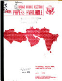 Foreign affairs research special papers available, Near East, South Asia, and North Africa