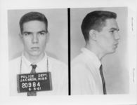 Mississippi State Sovereignty Commission photograph of Heath Rush following his arrest for his participation in a Freedom Ride, Jackson, Mississippi, 1961 June 9