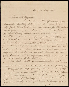 Letter from Mary P. Rogers, Concord, [NH], to Maria Weston Chapman, Feb'y 21st, [1839?]
