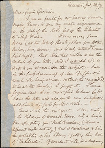 Letter from Samuel May, Jr., Leicester, [Mass.], to William Lloyd Garrison, June 23 / [18]74