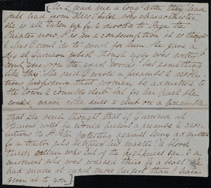 Fragments of letter from Lucia Weston, Weymouth, [Mass.], to Emma Forbes Weston, July 3'd, 1849