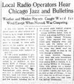 Local radio operators hear Chicago jazz and bulletins