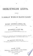A Greek-English lexicon