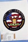 Compton City Seal, Compton, 1972