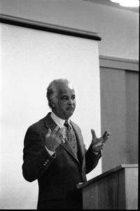Portrait of Edwin D. Driver, lecturing