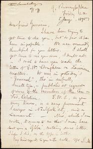 Letter from Samuel May, Jr., [Boston, Mass.], to William Lloyd Garrison, [January 1875]
