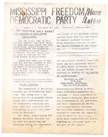 Mississippi Freedom Democratic Party newsletter (Vol. 2, No. 3)