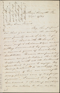 Letter from Sarah Pugh, 'The Pines,' Kennett, Pa., to Maria Weston Chapman, Sept. 19 / [18]64