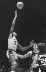 Magic Johnson throws a junior skyhook