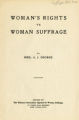 Woman's rights vs woman suffrage