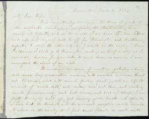 Letter from William Lloyd Garrison, Hamorton, [Pa.], to Helen Eliza Garrison, June 6, 1864