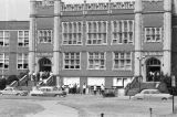 Students protesting the integration of Woodlawn High School in Birmingham, Alabama.