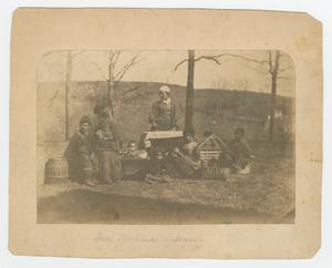 Albumen print of enslaved women and their children near Alexandria, Virginia