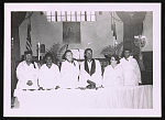 The stewardesses and Rev. Randolph Duncan, St. Matthew AME Church