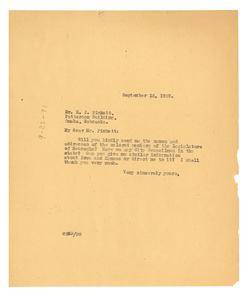 Letter from W. E. B. Du Bois to H. J. Pinkett