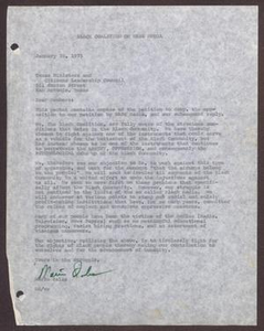Letter from Mario Marcel Salas to Members of the TMCLC - January 28, 1975 Mario Marcel Salas Papers