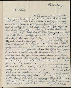 Letter from Lucia Weston, Boston, [Mass.], to Deborah Weston, Monday, July [18?], [1839?]
