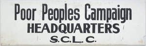 Sign for the Poor People's Campaign Headquarters