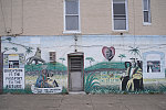 """[MLK Jr. mural, """"One God, One Aim, One Destiny,"""" Warwick Ave. by North Ave.], Baltimore"""