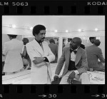 Richard Pryor and Lou Gossett backstage