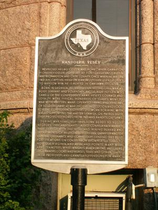 Plaque about Randolph Vesey