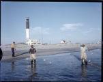 Fishing by Oak Island Lighthouse