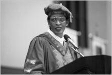 Johnnetta B. Cole, speaking at a Georgia State University commencement ceremony, Atlanta, Georgia, June 21, 1997.