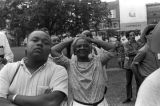 """Audience at a gathering in Canton Square in downtown Canton, Mississippi, during the """"March Against Fear"""" begun by James Meredith."""