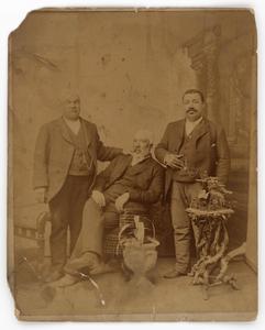 Albumen print of three members of the Boyd family