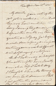 Letter from Joel Hawes, Hartford, to Amos Augustus Phelps, Nov 13th 1835