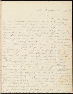 Letter from Deborah Weston, New Bedford, [Mass.], to Caroline Weston, Dec. 29, [18]'39