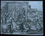 Black slaves work on the sugar plantations