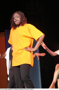Dancer Performing On-Stage Hip Hop Broadway: The Musical